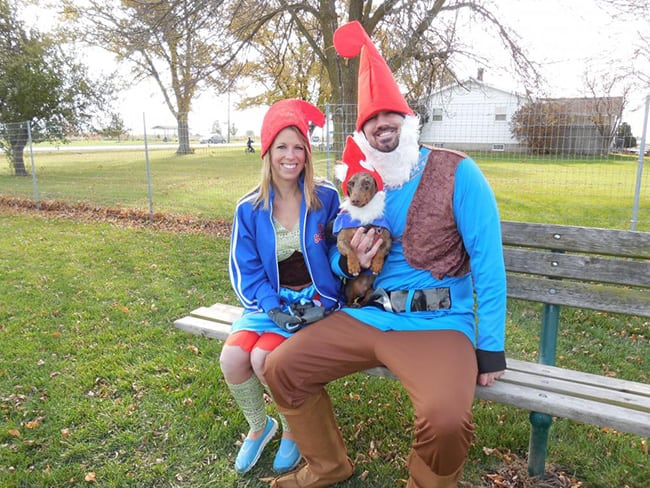 pet and owner halloween costumes - gnomes