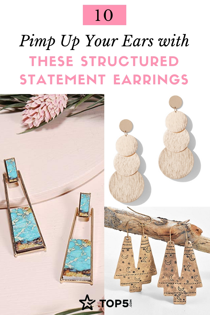 pimp up your ears with these structured statement earrings - collection