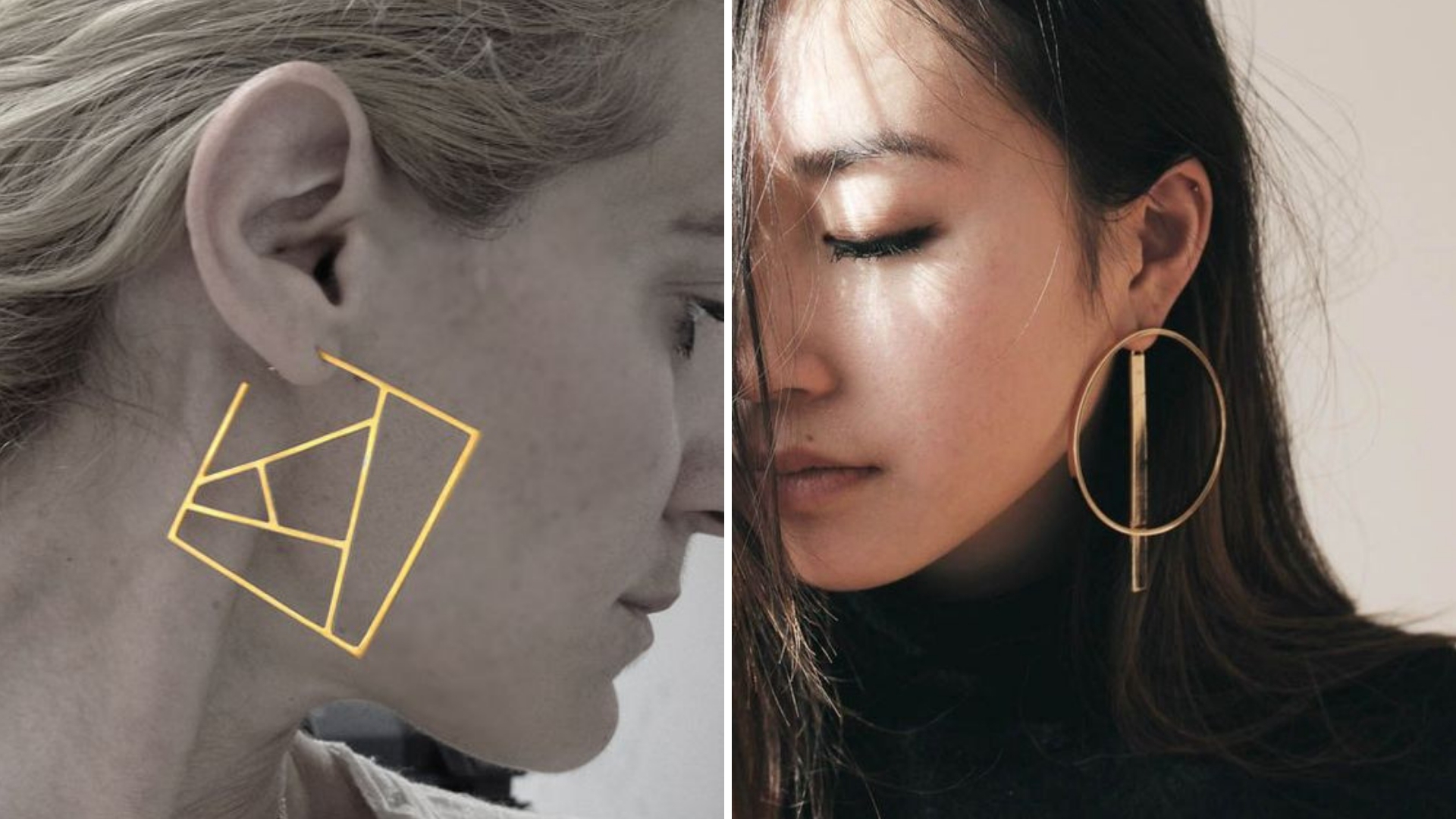 pimp up your ears with these structured statement earrings