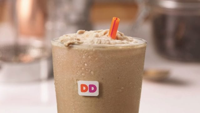pumpkin swirl frozen coffee with cream most unhealthy fast food