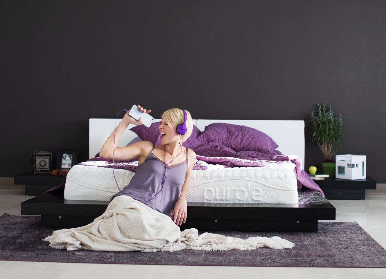 Woman enjoying her Purple Mattress