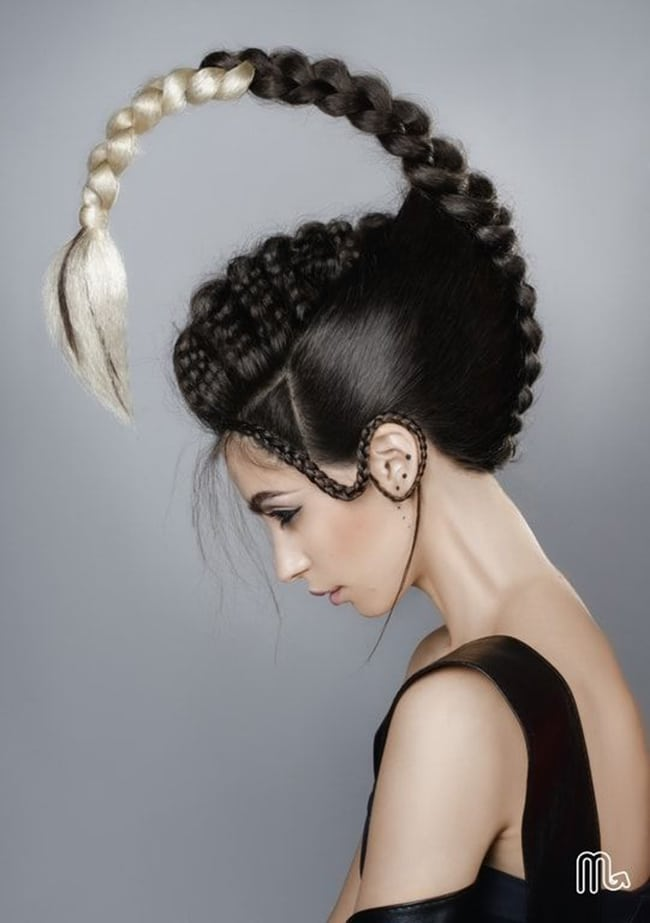 scorpion hair art