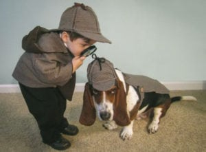 sherlock holmes pet and owner halloween costumes