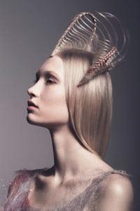 structured hair art