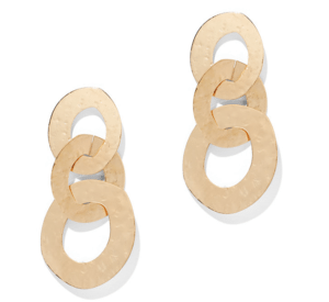 structured statement earrings - circle link drop earrings