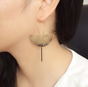 structured statement earrings - dangling geometric