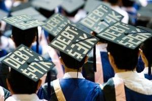 student loan debt benefits - grad caps with total debt amounts