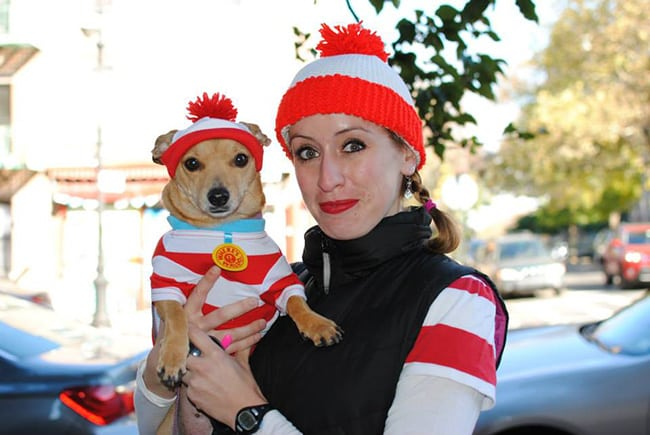 where's waldo pet and owner halloween costumes
