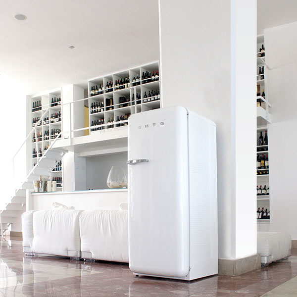 white smeg fridge