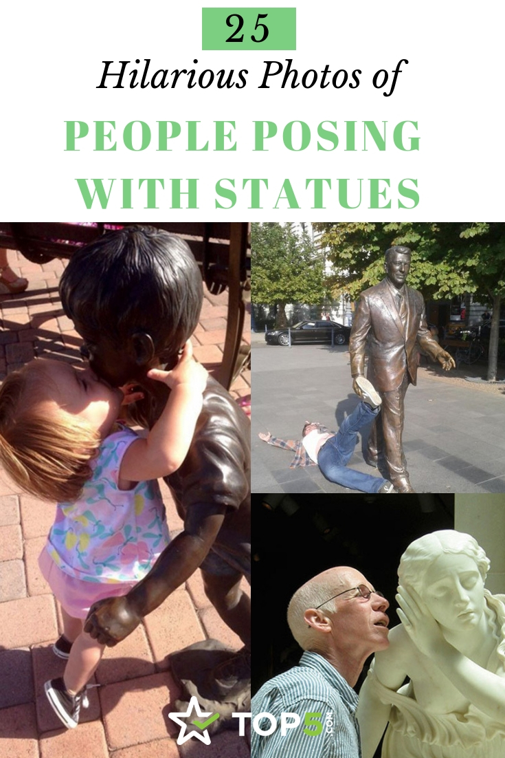 25 hilarious photos of people posing with statues