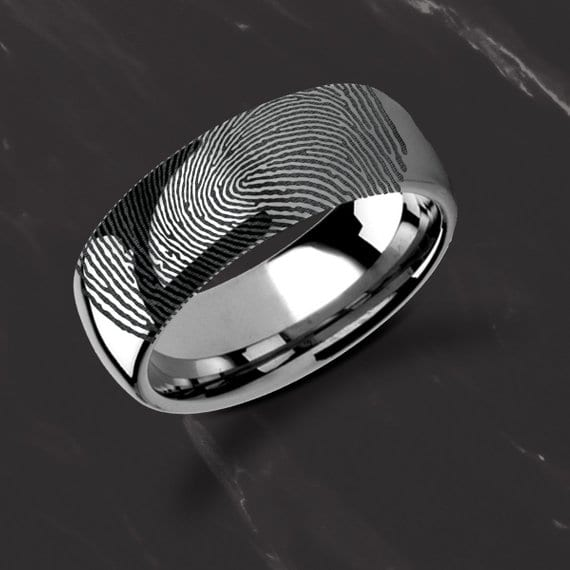 Alternative engagement rings: fingerprints