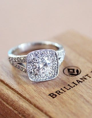 Alternative engagement ring brilliant earth