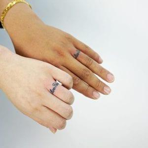 Alternative engagement rings: tattoos