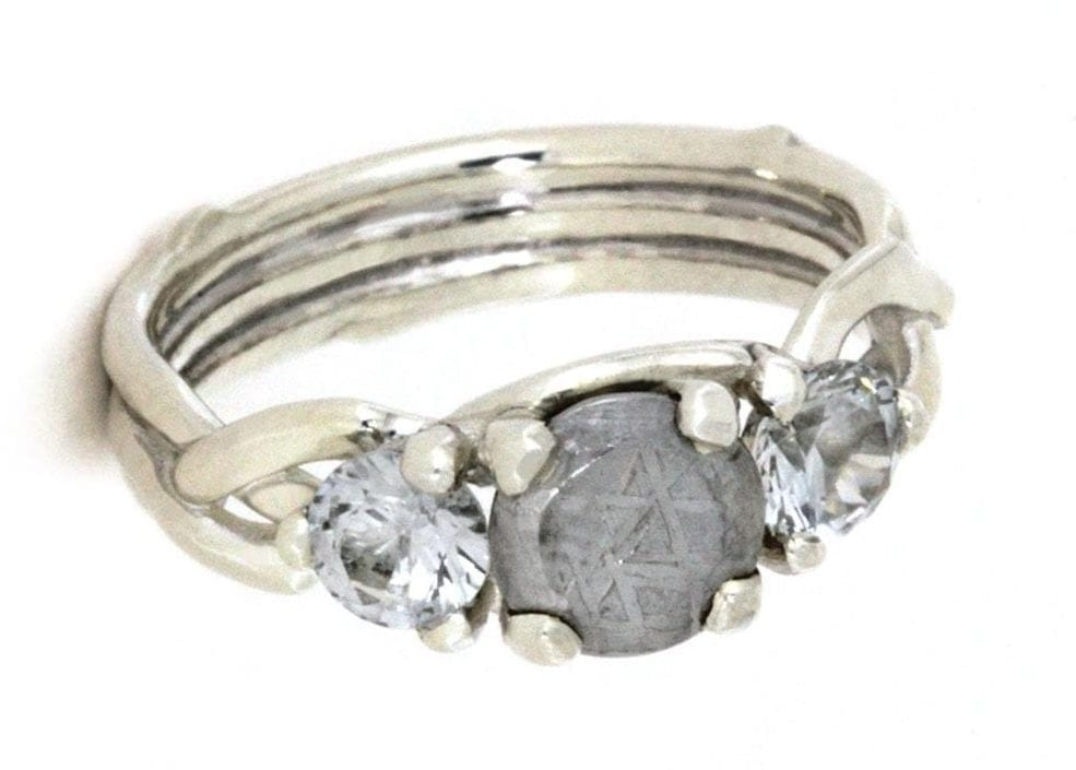Alternative engagement rings: meteorite ring