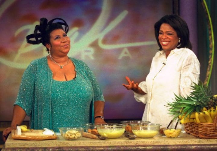 aretha franklin oprah banana pudding queen of soul