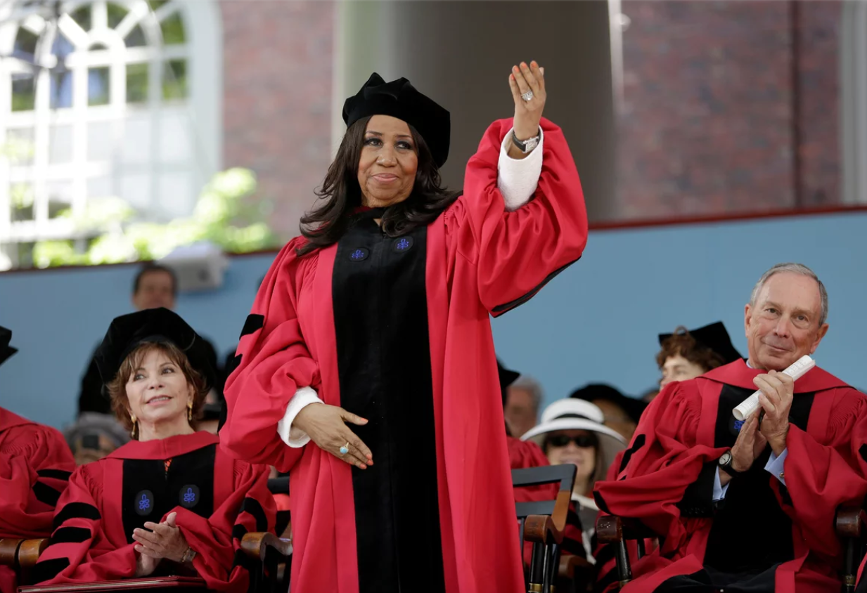 aretha franklin college speaker