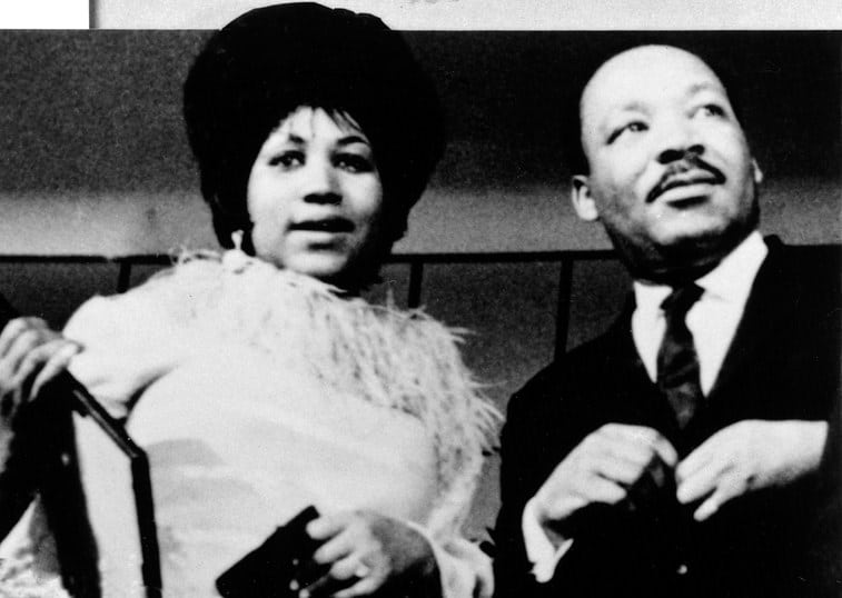 aretha franklin martin luther king queen of soul