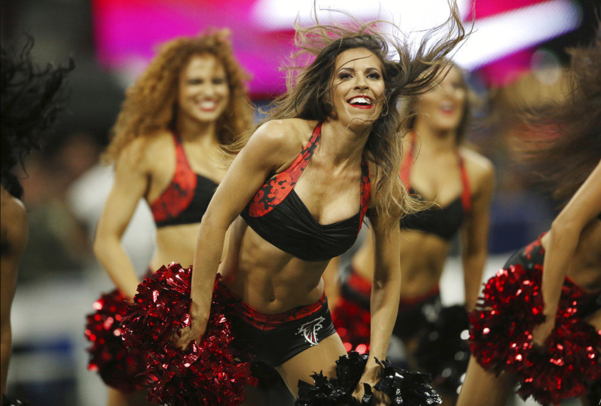atlanta falcons nfl cheerleader outfits