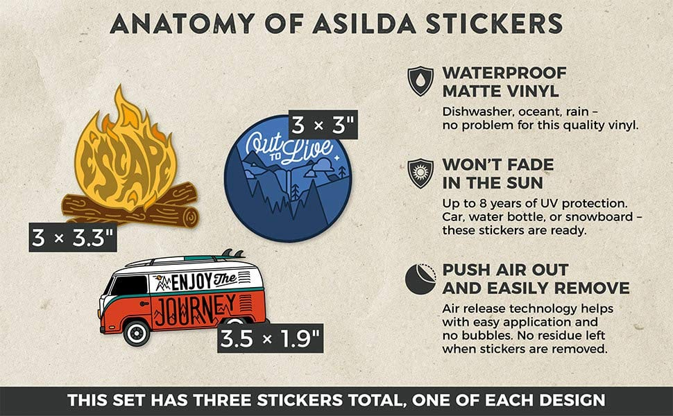 Custom Water Bottle Stickers Asilda