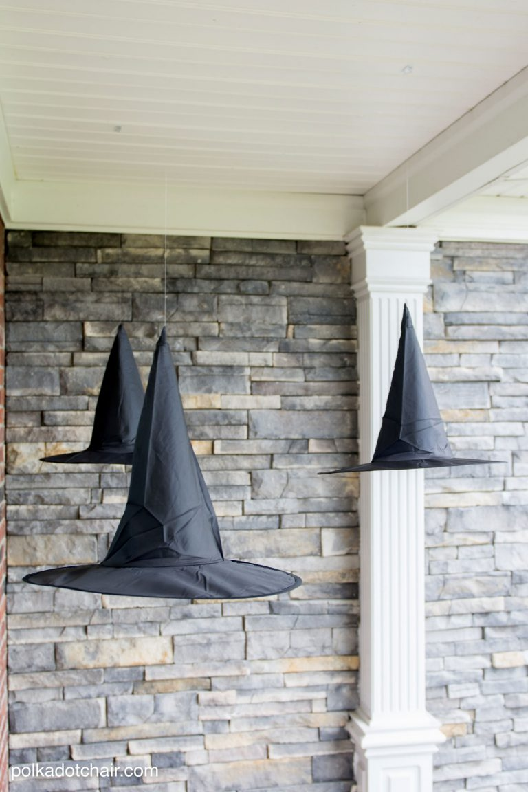 diy halloween decorations witch hats