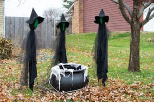 cheap easy diy halloween decorations witches
