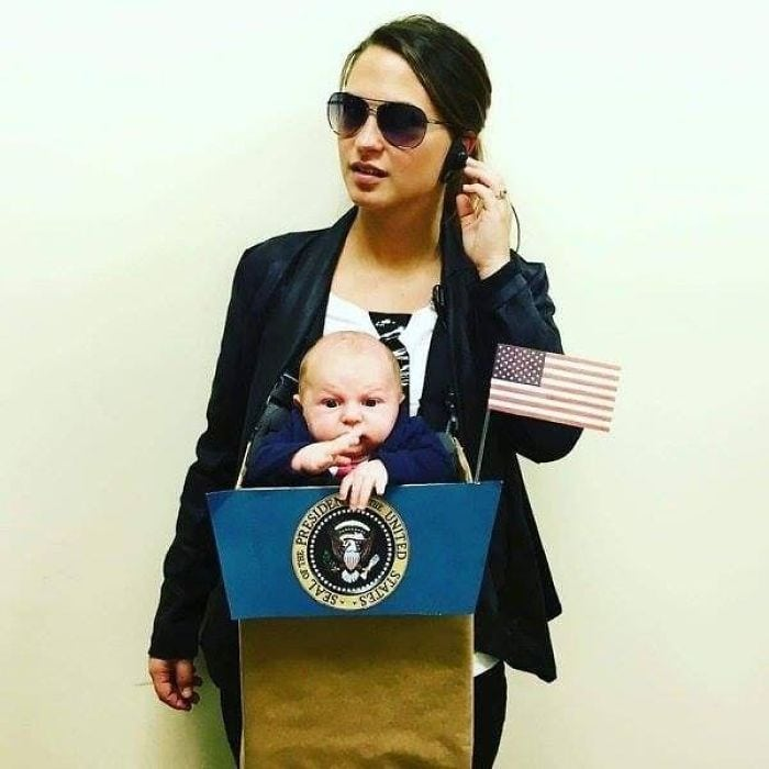 Costume ideas for moms: Mr. President