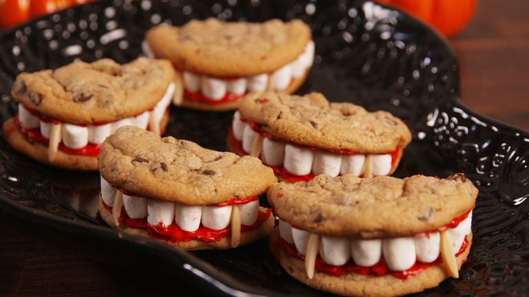 Halloween dessert recipes: Dracula's dentures