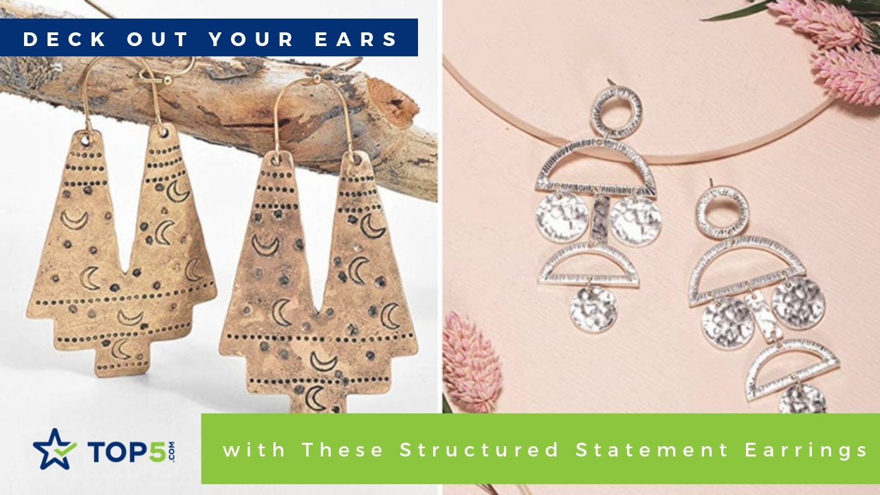 deck out your ears with these structured statement earrings