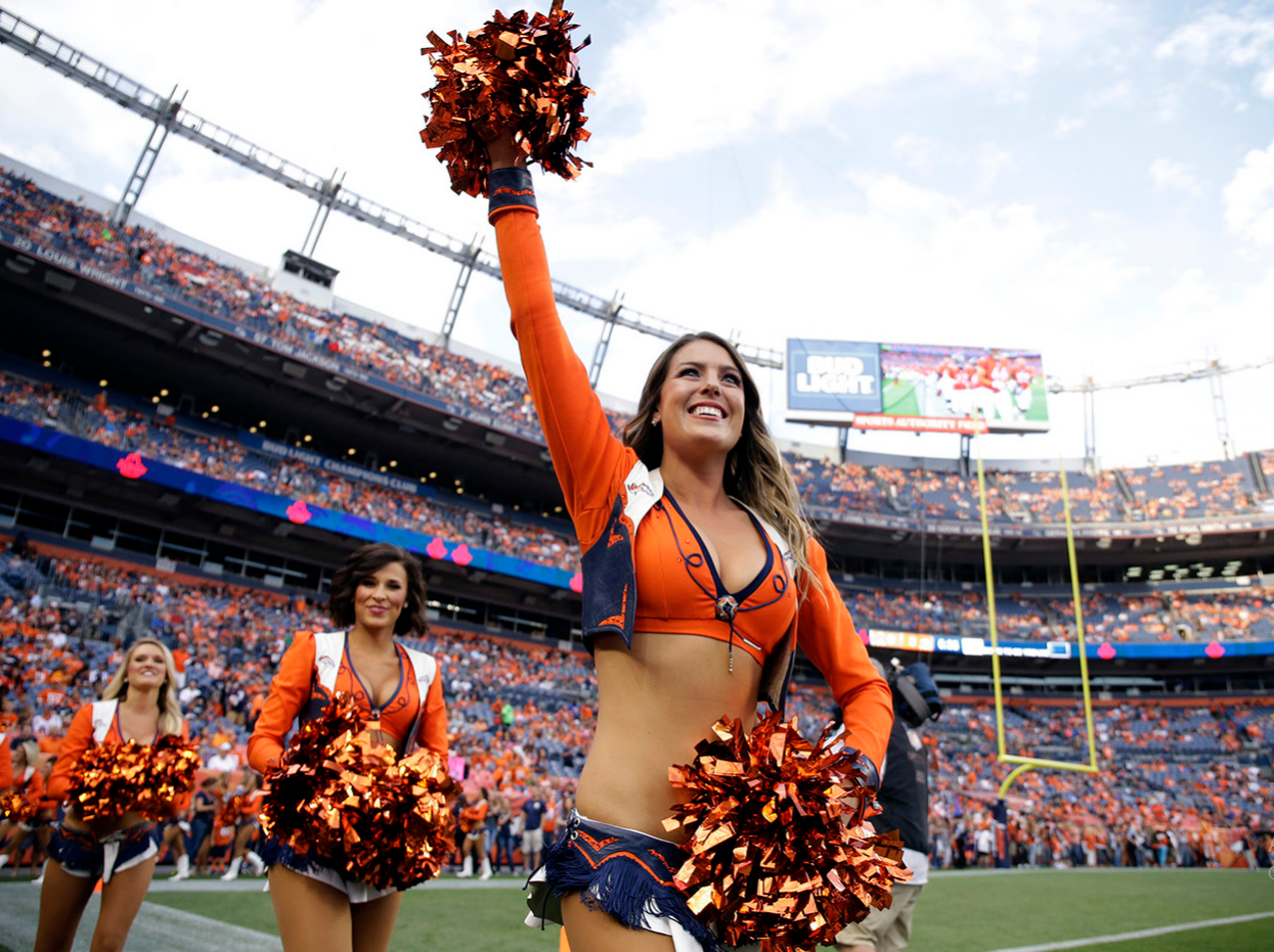 denver broncos nfl cheerleader outfits