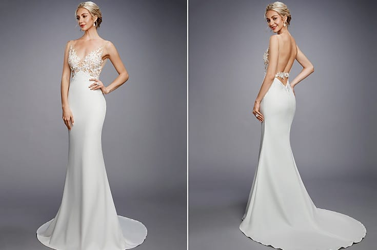 Destination Wedding Dresses illusion dress