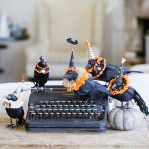 diy halloween decorations crow handmade