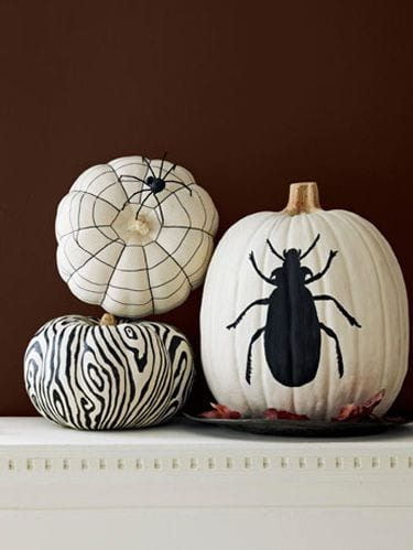 diy halloween decorations painted pumpkin