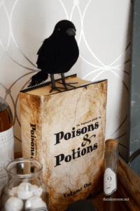 diy halloween decorations potion book