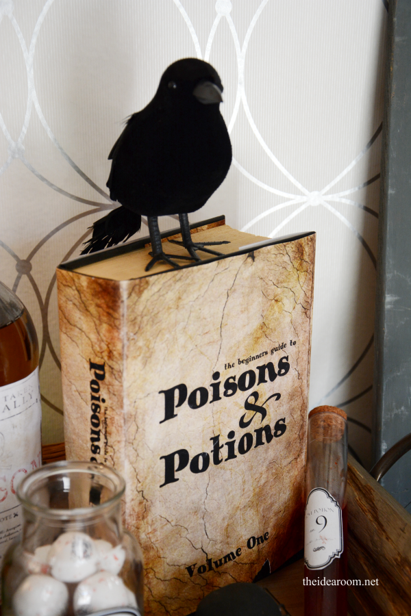 diy halloween decorations potion book