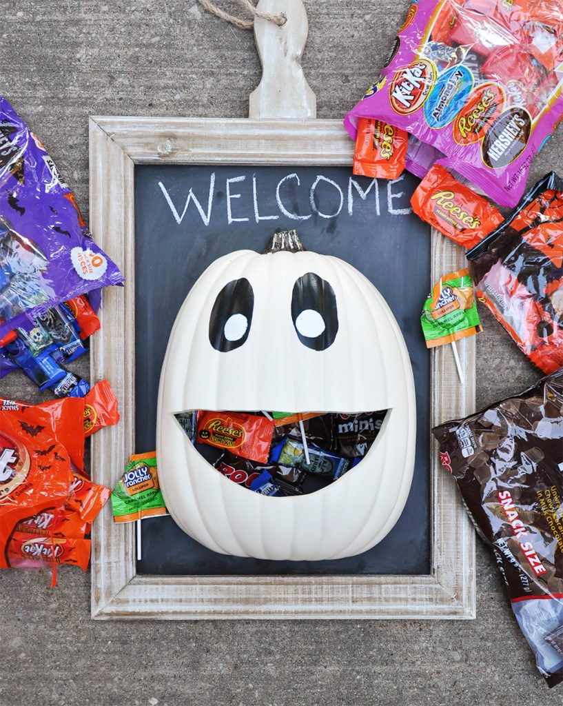 diy halloween decorations pumpkin candy trick or treat
