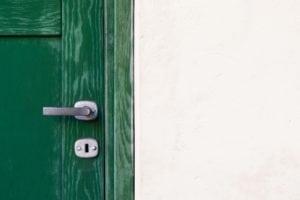diy home security | locked front door