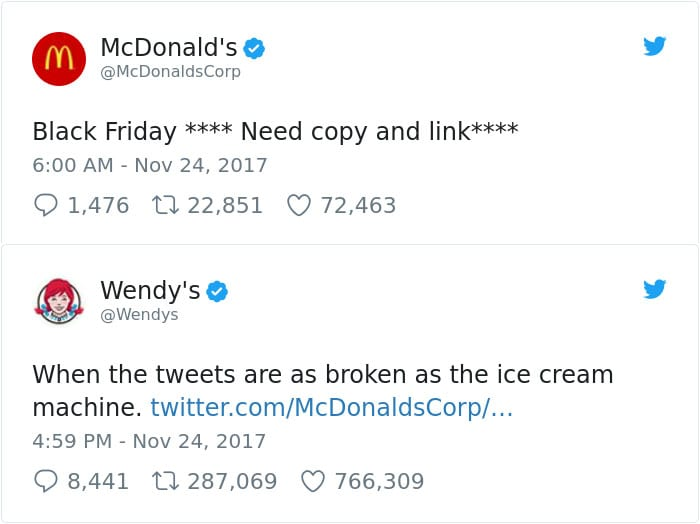 funny wendy's twitter roasts mcdonalds ice cream