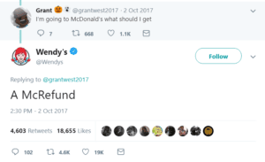 funny wendy's twitter roasts refund