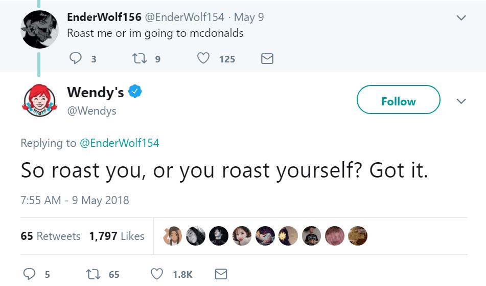 wendy's twitter roasts