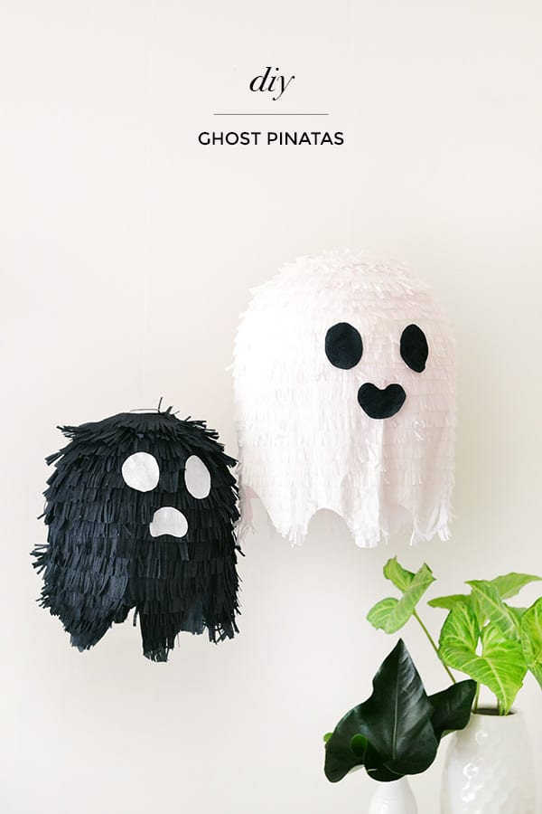 ghost pinatas diy halloween decorations