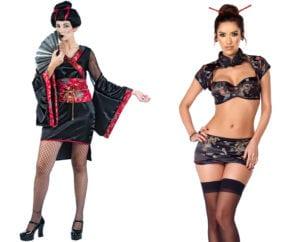 Halloween costume fails geisha
