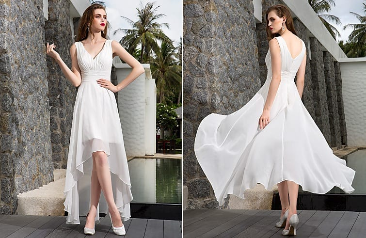 Destination Wedding Dresses high-low wedding dress