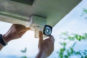 home security camera installation technician