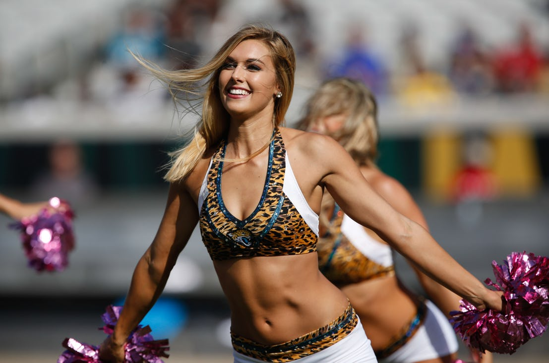 jacksonville roar nfl cheerleader outfits