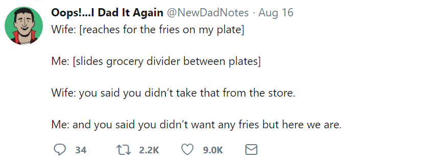 marriage tweets fries