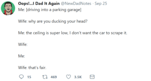 marriage tweets garage car