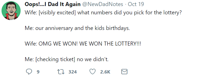 marriage tweets lottery