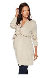 maternity clothes - long sleeve drape front shawl cardigan