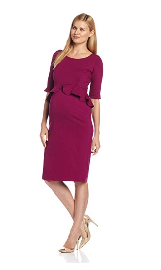 maternity clothes - maternity peplum dress