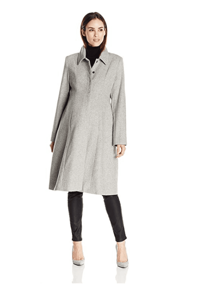 maternity clothes - maternity tweed princess line coat